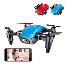 цена Drones With Camera HD Wide Angle Foldable Pocket Drone Remote RC Helicopters Quadcopter High Hold Mode Remote Control Drone онлайн в 2017 году