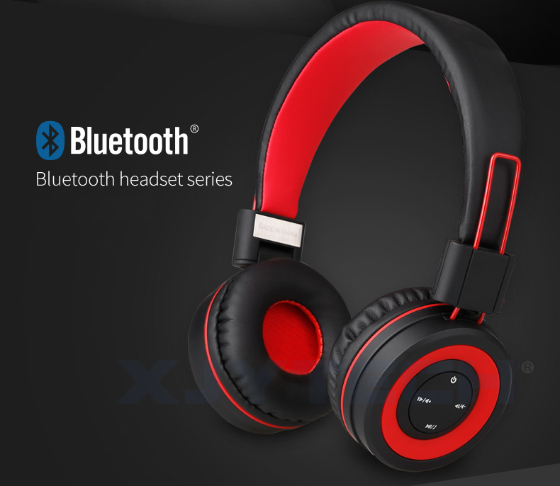 Portable Stereo Music Headset Wireless Bluetooth Sports Headphones with Microphone