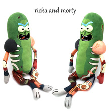 NEWEST 45cm Rick and Modi Cute Pickles Plush Cucumber Doll Toy Soft Pillow kids Toys Kids Baby Movies TV Dolls A