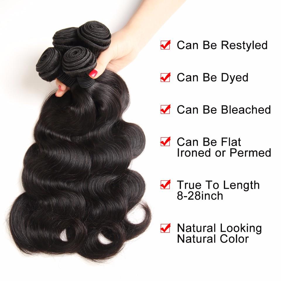 virgin brazilian body wave human hair bundles