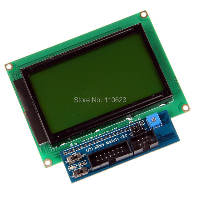US $18 0 |LCD12864 128x64 Module shield V2 0 Dots Graphic Matrix LCD for 3D  Printer Arduino-in 3D Printer Parts & Accessories from Computer & Office