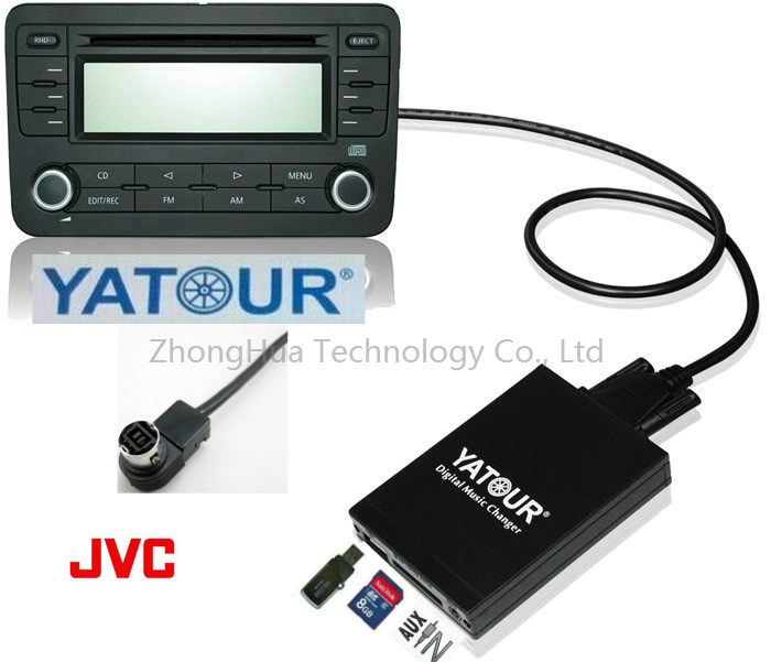 Yatour Digital Music Car Audio USB Stereo Adapter MP3 AUX Bluetooth for JVC Head units interface CD Changer player yatour digital cd changer car stereo usb bluetooth adapter for bmw