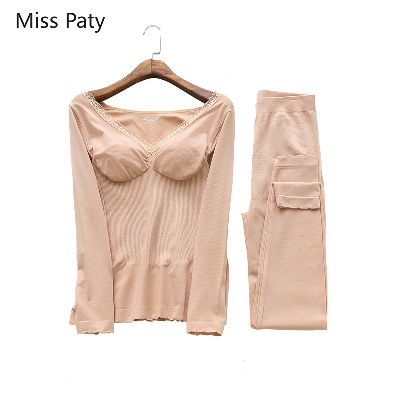 Women's Winter Wear Sexy Intimate Lingerie Warm Long Johns Suit Tmall Seller Thermal  Thermo Underwear Female Set For Woman