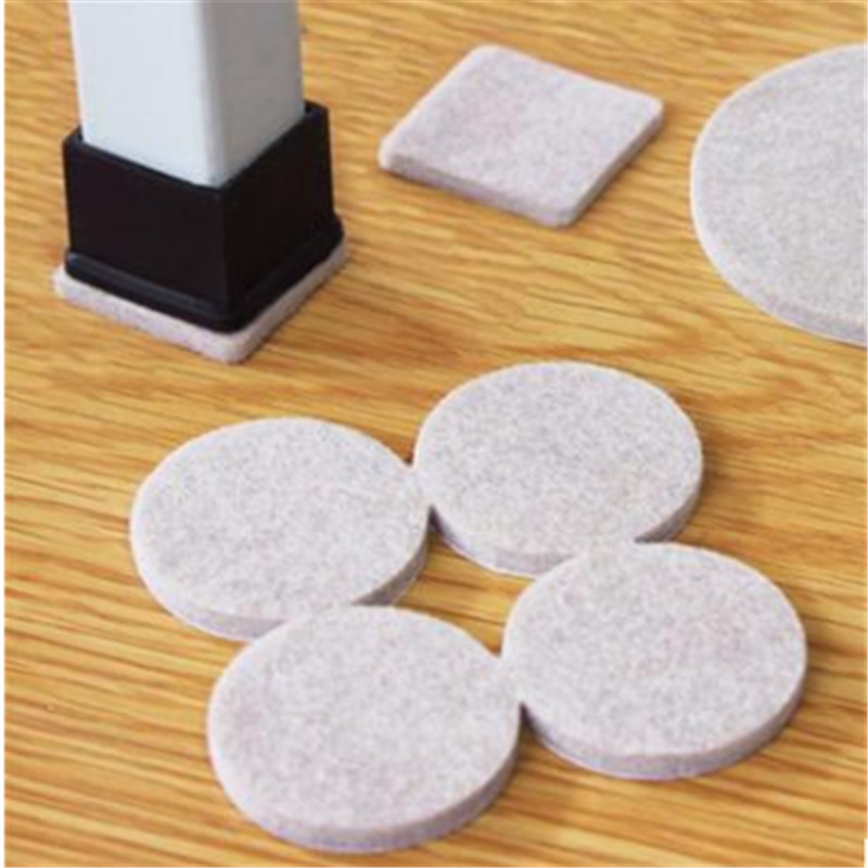 2019 New Arrive 18pcs Furniture Chair Table Leg Self Adhesive Felt Pads Wood Floor Protectors Felt Pads Floor Protect Pad Scratc