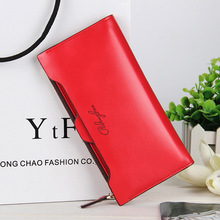 New Brand luxury long women leather clutch wallet and purse