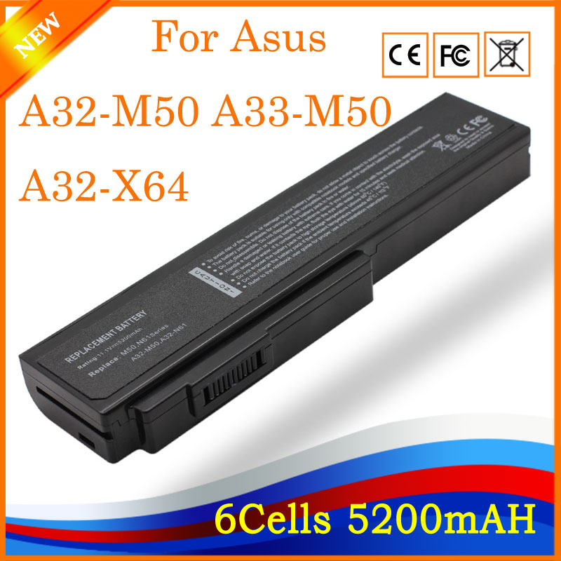 YHR Batterie pour Asus N53S N53SV A32-M50 A32-N61 A32-X64 N53 A32 M50 M50s M50-M50 N61 N61J N61D N61V N61VG N61JA N61JV HK04