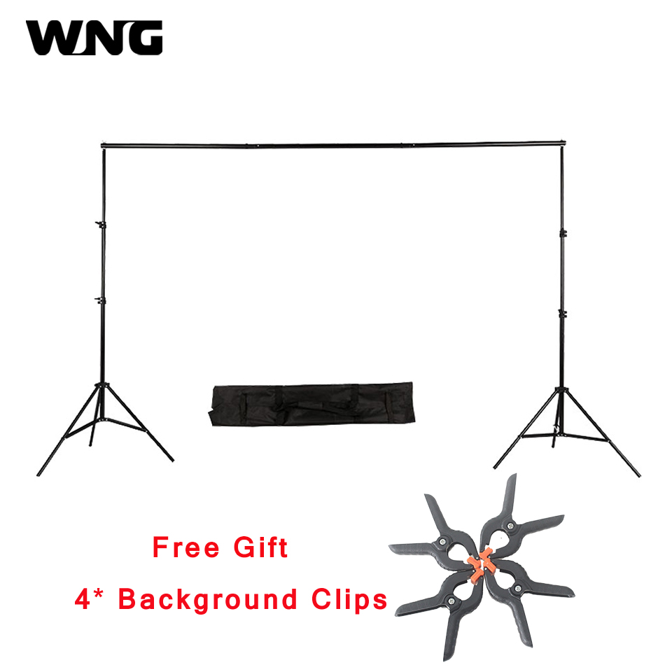 цена на 2x3m 10ft Adjustable Photo Studio Backdrop Background Support Stand Photography Background Frame Stand Backdrops Photobackground