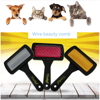 Fashion Multi-purpose Needle Dog Cat Yokie Puppy Doy toy Pets Comb Brush toy Dog Hair Remover Rake Comb Pet Beauty Grooming Tool image
