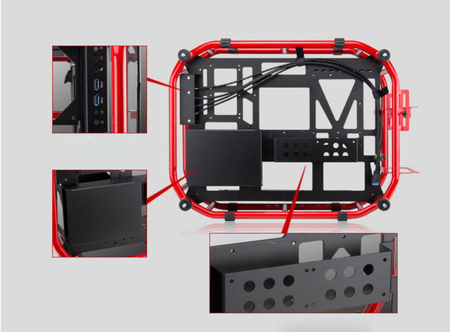 ATX Gaming Computer PC Case Desktop desk box case gamer Vertical enclosure 4