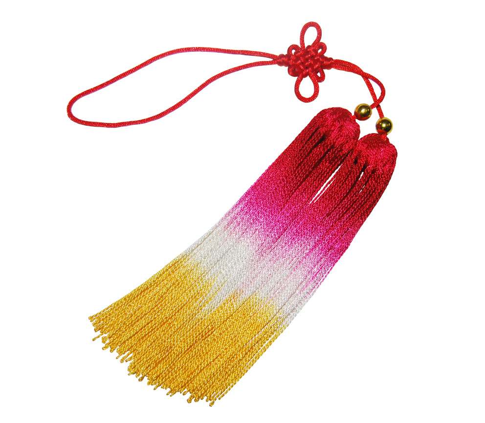 [yiwutang] High Quality Kung Fu Sword Tassel, Chinese Traditional Short Tai Chi Sword Tassel, Gradient Color