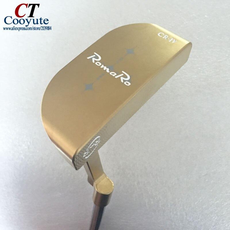 Nuevos mens Golf clubs RomaRo Cooyute CR-IV Oro Putter de Golf con N. S. PRO 950