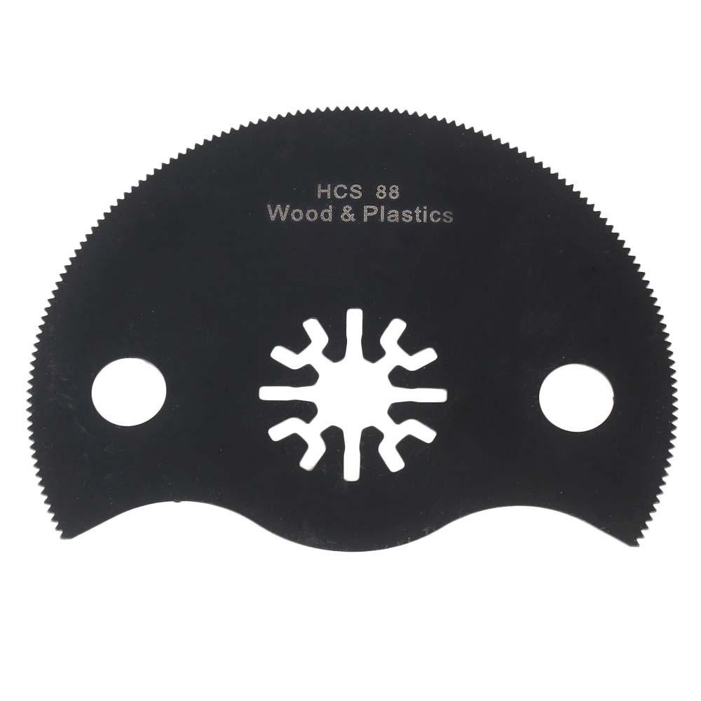 88mm Black High-Carbon Steel Oscillating Multitool Universal Semicircle Saw Blades