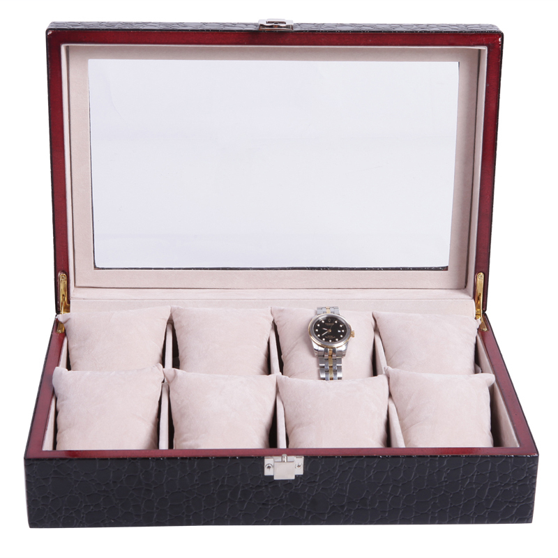 This is a 8 position watch display box and watch holder can be a man or woman household supplies/21.5*32*8.5 lager space скатерть a promise household cloth 13