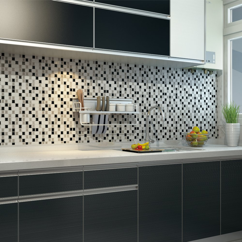 - Peel And Stick Wall Tiles Adhesive Mosaic Kitchen Backsplash Tile