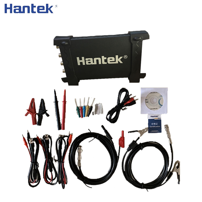 Hantek 6204BE Handheld Portable USB Oscillograph PC 200MHz 4 Channels 1Gsa/s Digital Osciloscopio Automotive Car-detector image