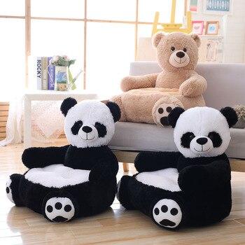 Stuffed Animal Panda & Bear Plush Toy Chair For 2-5 Years Baby