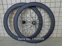 1 pair جديد 700c 60 ملليمتر الحافات أنبوبي الطريق دراجة ماتي 12 كيلو مراكز wheelsets ألياف الكربون كاملة الدراجة ايرو أسياخ المجانية مجانا