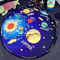 150 CM Katoen Baby Tapijt Play Mat voor Kinderen Tapijt Kleed Baby spelen Tapijt Voor Kids Speelgoed Organizer Tas Draagbare Opbergtas PX26