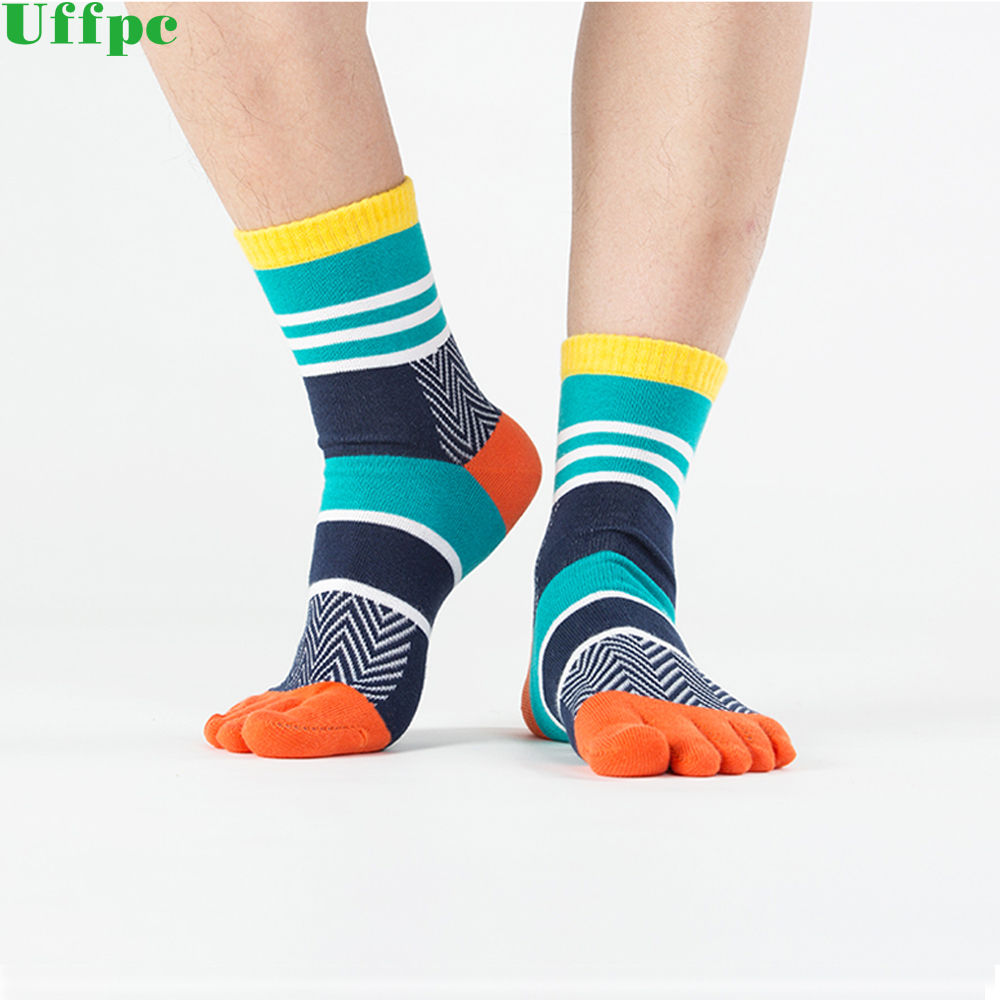 3 Pair Men Socks Boys Cotton Finger Breathable Five Toe Socks Pure Sock 2018 New Colorful Funny