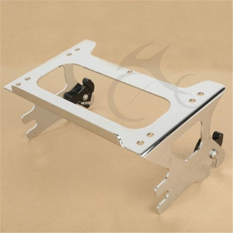 Chrome Detachable Two up Tour Pak Pack Mounting Rack for Harley Touring Road King FLHT Street