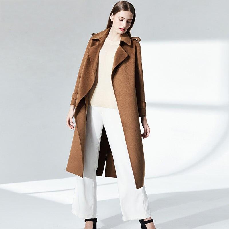 Design Femmes Réel Qualité Mode Cachemire Fourrure Manteau Bonne Automne Npi Laine 80318b Élégant Femelle Hiver De Camel Naturelle 4OwBrqO