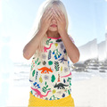 2017 Marca Meninas T-shirt Do Bebê Roupas Crianças T Shirt do Desenhista Da Criança Do Bebê Meninas T Camisas de Algodão de Manga Curta Camiseta