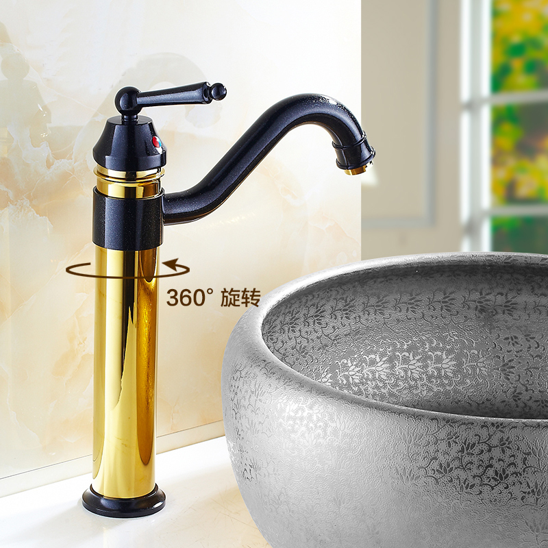 Free Shipping Bathroom Antique 360 rotated wash basin faucet mixer, Copper Single hole water tap sink faucet black/white WhosaleFree Shipping Bathroom Antique 360 rotated wash basin faucet mixer, Copper Single hole water tap sink faucet black/white Whosale