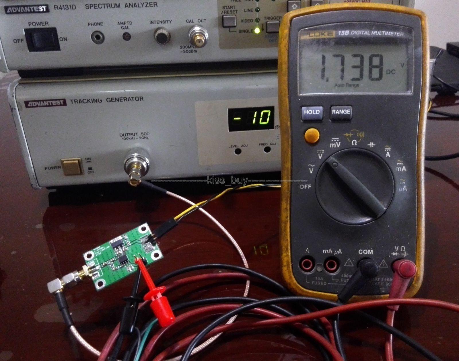 RF Power Meter HF UHF Signal 1-500Mhz -74dbm to +18dBm Logarithmic Detect