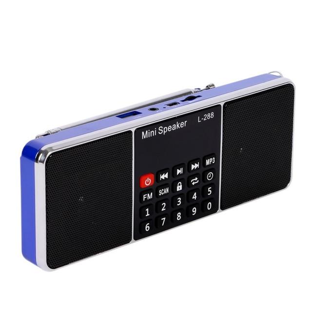 Mini altavoz reproductor de radio portátil con sonido estéreo bajo estupendo soporte de tarjeta TF y USB flash drive Venta Caliente