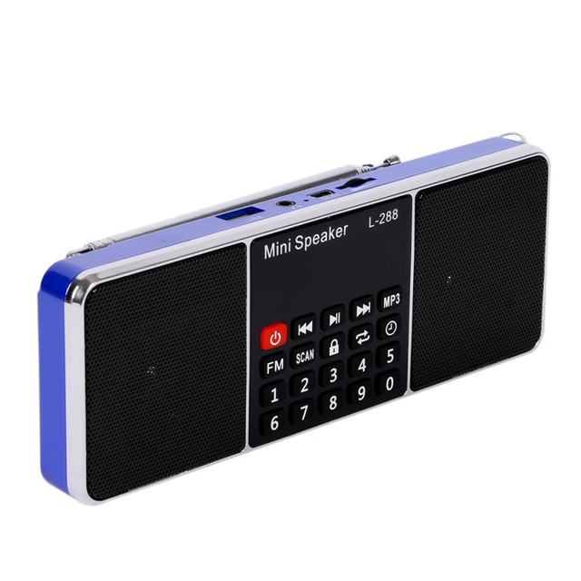 Mini portable radio speaker player with super bass stereo sound support TF card and USB flash drive Hot Sale