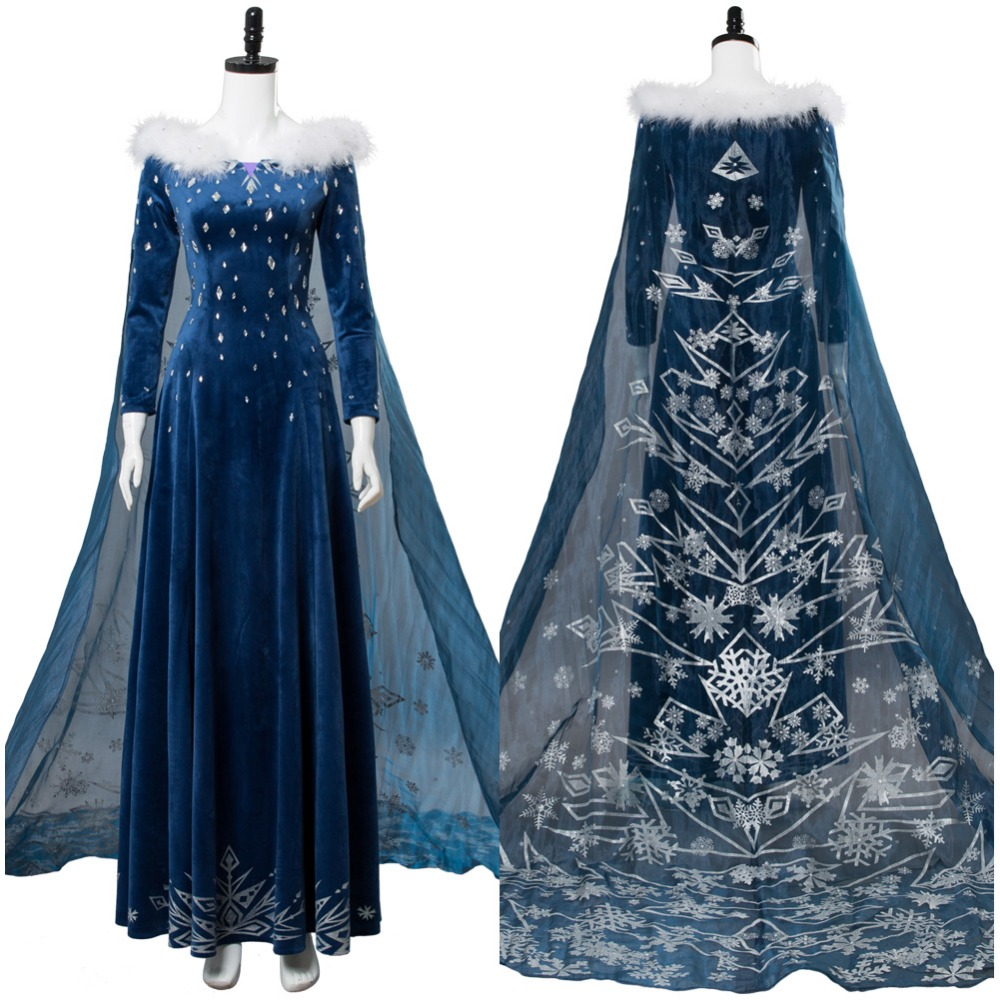 Olaf's Adventure Princess Elsa Dress For Women Adult Cosplay Costume Halloween Carnival Cosplay Costumes Custom Made