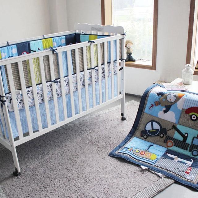 Moonpalace Perro Gracioso Conduciendo un Coche por La Aventura 4 Unids vivero cuna bedding set ajusta a todas las cunas de bebé y niño cama