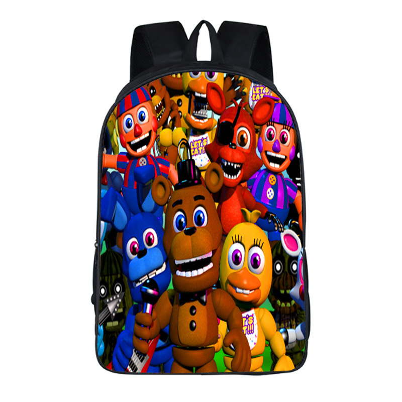 Anime Five Nights At Freddys Backpack Teen Bonnie Fazbear Foxy Freddy Chica Backpack Boys Girls School Bags Backpack 17 style
