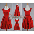 Harry Potter Movie the Deathly Hallows Hermione Granger Red Dress Adult Women's Halloween Cosplay Costume