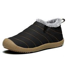 Men Boots Waterproof Winter Men's shoes Warm Plush Snow Boots Non-slip Rain boots Casual Ankle Boots Men Booties Size 38-46