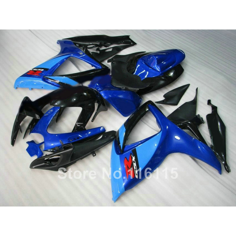 Injection mold  fairing kit for SUZUKI GSXR 600/750 K6 K7 2006 2007 blue black GSXR600 GSXR750 06 07 fairings A492 lowest price fairing kit for suzuki gsxr 600 750 k4 2004 2005 blue black fairings set gsxr600 gsxr750 04 05 eg12