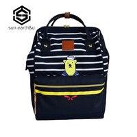 Teenage Backpacks Women Shoulder School Bags Rucksack Bolsas Mochila Feminina Travel Bags Bear Embroidery Large Space