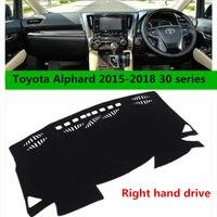 TAIJS right hand drive car dashboard mat cover for Toyota Alphard 2015-2018 Auto dashboard rug for Toyota Alphard