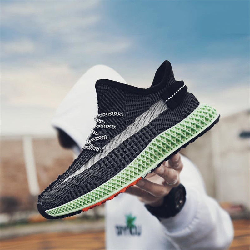 2019 Men's Casual Shoes Fish Pattern Knit Breathable