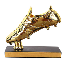 17cm Height Best Shooter Award Trophy Football Boot Champions Award Shoes Shape Cup Fans Souvenir Resin Material new best resin gold plating the golden football boot champions league award trophy cup soccer clubs fans souvenirs collectibles
