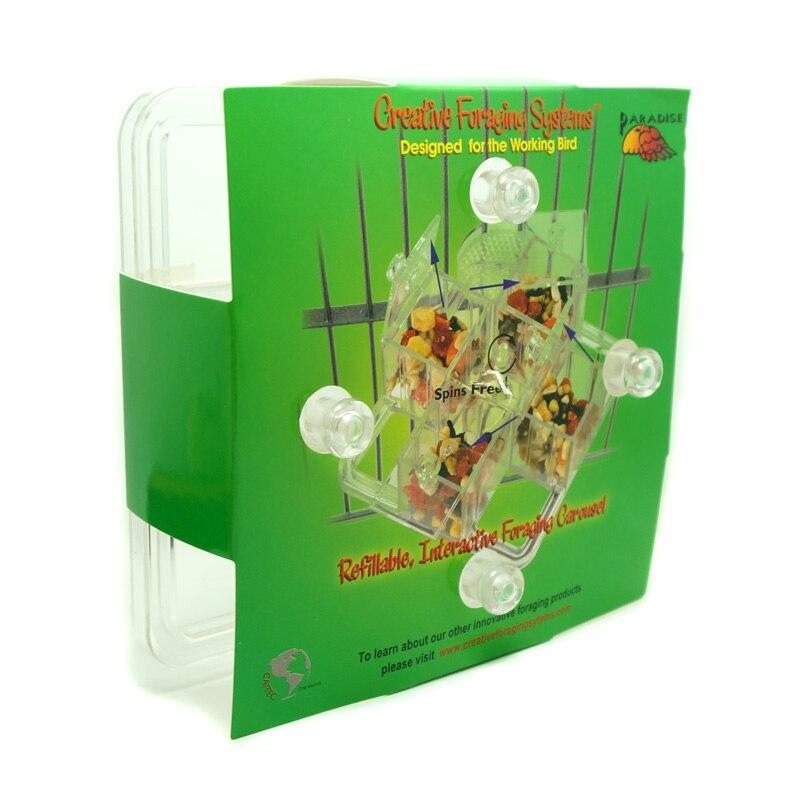 Jouets pour oiseaux CAITEC carrousel de nourriture dur Durable résistant aux morsures perroquet jouet de recherche de nourriture adapté aux perroquets moyens - 6