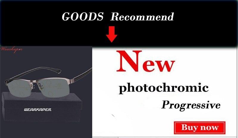 WEARKAPER Retro Eyewear Smart zoom Half Frame Progressive Reading Glasses Men Women Presbyopia Hyperopia Multifocal Glasse