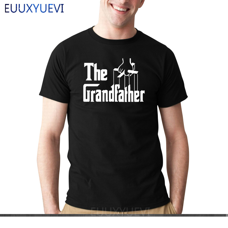 New The Grandfather Gift For Grandad Fathers Day T Shirt Men Funny Cotton Short Sleeve T-shirt Tshirt camiseta
