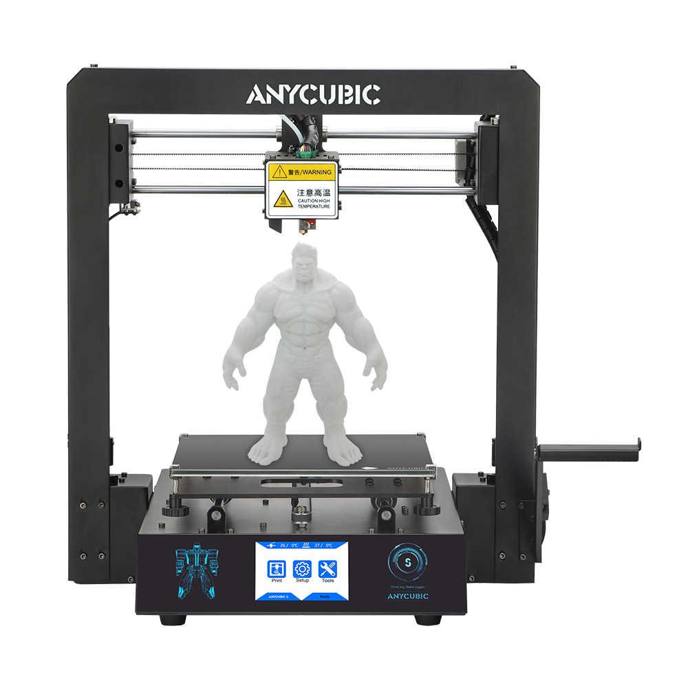 Anycubic Mega-S 3D Printer Upgrade Kualitas Tinggi Mengusir Plus Ukuran Layar Sentuh TFT Desktop dengan Harga Murah 3d Printer Kit impresora 3D