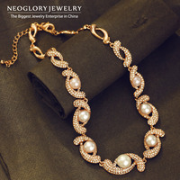 Neoglory Alloy Rose Gold Plated Long Necklaces For Women Charm Chain Necklace For Women