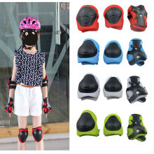 Kid 6PCS Protective Skateboard Roller Blading Elbow Knee Wrist Gear Pad Guard