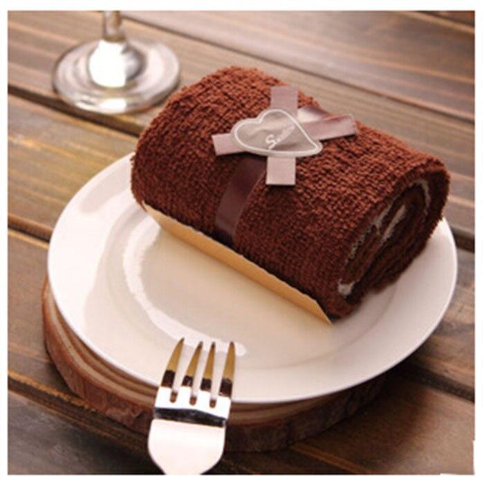 Оптовая продажа 100 шт./лот коричневый Полотенца New Look торт Полотенца подарок со дня рождения питания Свадебная вечеринка Подарки торт Полоте...