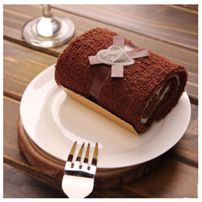 Wholesale 100PCS/Lot Brown Towels New Look Cake Towel Gift Brithday Supply Wedding Party Giveaways Cake Towels