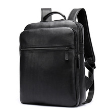 купить Men Backpack Genuine Leather Waterproof Backpack For Teenage Male Fashion School Travel Bag USB Charge Laptop Bagpack Mochila по цене 4234.31 рублей