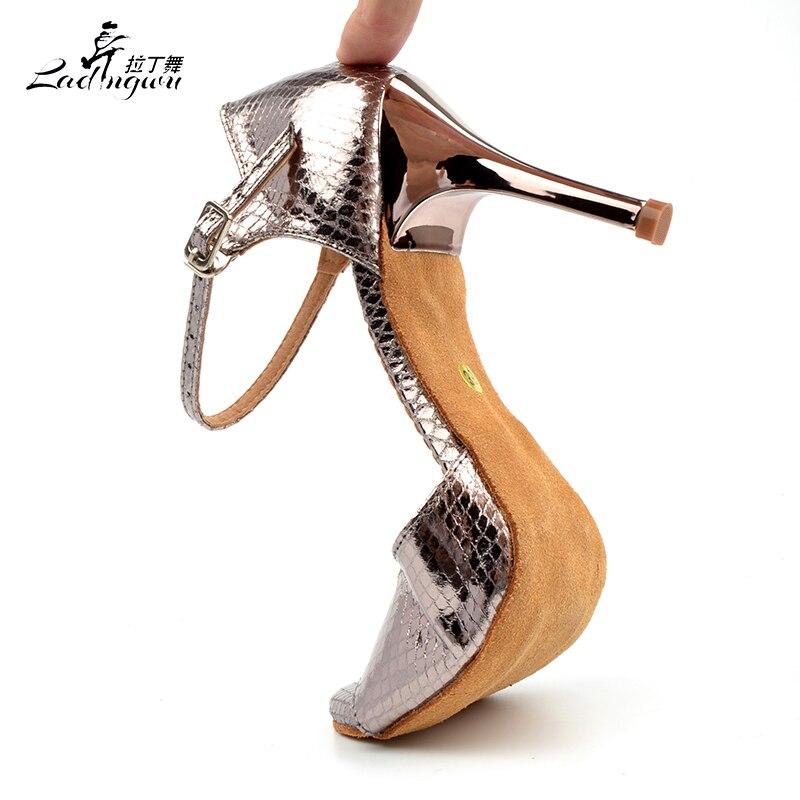 Ladingwu 2018 venta al por mayor zapatos de tacón alto de Pu gris de - Zapatillas - foto 5